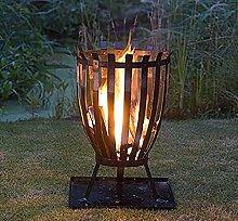 Outdoor Fire Pit, Fire Basket on the Terrace Fire