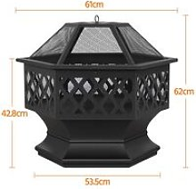 Outdoor Fire Pit Patio Heater for BBQ/Camping