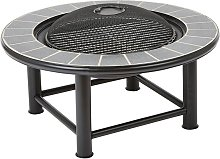 Outdoor Fire Pit Table Mesh Cap Grill Burner