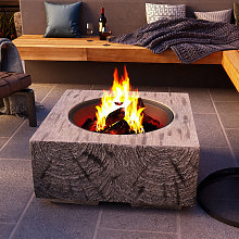 Outdoor Firepit Wood Log Burning Fire Pit Bowl BBQ