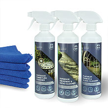 Outdoor Garden Cleaning Trio with Microfiber