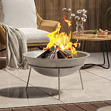 Outdoor Garden Firepit Round Fire Pit BBQ Grill