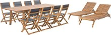 Outdoor Garden Patio Furniture Set 11 Pieces Table