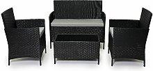 Outdoor Garden Rattan Furniture 4 Piece set Chairs