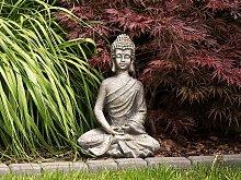 Outdoor Garden Sculpture White Polyresin Buddha