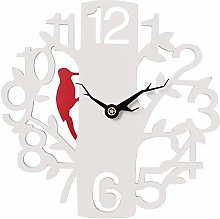 Outdoor Garden Wall Clock, 16 Inch Large White