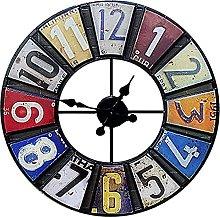 Outdoor garden wall clock, resin crafts, indoor