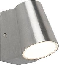 Outdoor lamp aluminum with light-dark sensor incl.