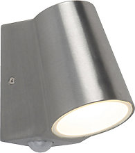 Outdoor lamp aluminum with motion sensor incl. LED