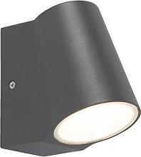 Outdoor lamp anthracite with light-dark sensor