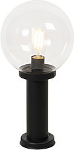 Outdoor lamp black with clear glass IP44 50 cm -
