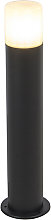 Outdoor lamp black with opal white shade 50 cm -