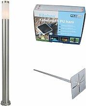 Outdoor lamp post steel 110 cm IP44 - Rox with
