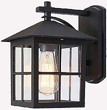Outdoor Lamp Vintage Black Wall Lamp Waterproof