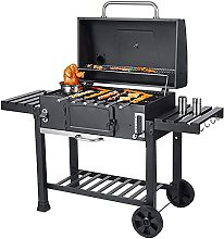 Outdoor Large Smoker Charcoal Grill Portable BBQ