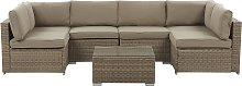 Outdoor Lounge Set Modular Sofa Cushions Coffee