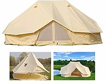 Outdoor Luxury Bell Tent, 19.6ft/6M Canvas Tent, 4