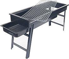 Outdoor mini barbecue grill, portable foldable