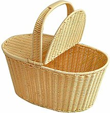 Outdoor Picnic Basket with Handle, Portable