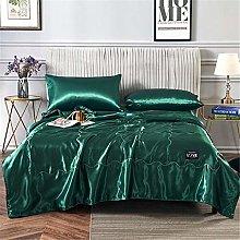 Outdoor-QJ Summer Quilt Blanket Silk Air