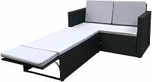Outdoor Rattan Garden Sofa Furniture Set Love Bed