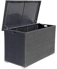 Outdoor Rattan Garden Storage Box in Black -