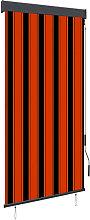Outdoor Roller Blind 100x250 cm Orange and Brown