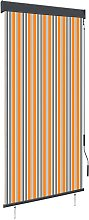 Outdoor Roller Blind 100x250 cm Yellow and Blue -