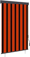 Outdoor Roller Blind 120x250 cm Orange and Brown
