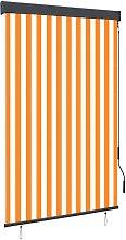 Outdoor Roller Blind 120x250 cm White and Orange -