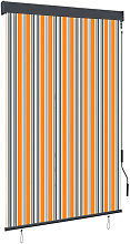 Outdoor Roller Blind 120x250 cm Yellow and Blue -