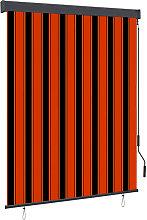 Outdoor Roller Blind 140x250 cm Orange and Brown -