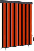 Outdoor Roller Blind 140x250 cm Orange and