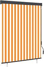 Outdoor Roller Blind 140x250 cm White and Orange -