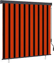 Outdoor Roller Blind 160x250 cm Orange and Brown -