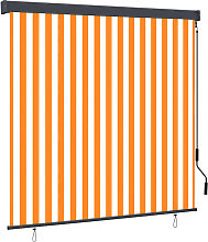 Outdoor Roller Blind 160x250 cm White and Orange -