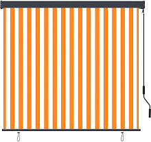Outdoor Roller Blind 160x250 cm White and Orange