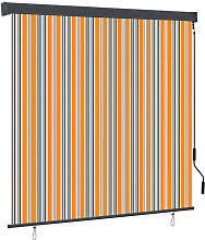 Outdoor Roller Blind 160x250 cm Yellow and Blue -