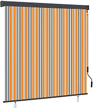 Outdoor Roller Blind 170x250 cm Yellow and Blue -