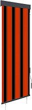 Outdoor Roller Blind 60x250 cm Orange and Brown -