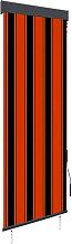 Outdoor Roller Blind 60x250 cm Orange and Brown