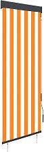 Outdoor Roller Blind 60x250 cm White and Orange