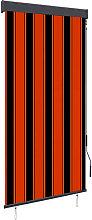 Outdoor Roller Blind 80x250 cm Orange and Brown -