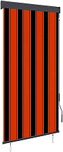 Outdoor Roller Blind 80x250 cm Orange and