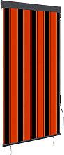 Outdoor Roller Blind 80x250 cm Orange and Brown