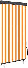 Outdoor Roller Blind 80x250 cm White and Orange -