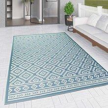 Outdoor Rug Blue Diamond for Decking Garden Patios
