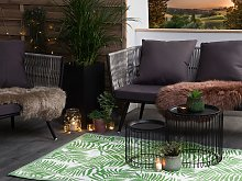 Outdoor Rug Green PP 120 x 180 cm Reversible Palm