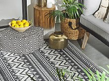 Outdoor Rug Mat Black Synthetic 120 x 180 cm Eco