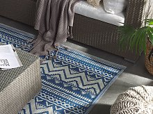 Outdoor Rug Mat Blue Synthetic 120 x 180 cm Eco